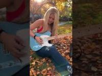 Miłe dla oka i ucha gitarowanie granie