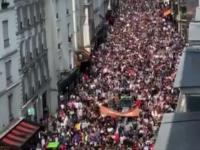 Protesty we Francji przeciwko paszportowi sanitarnemu i przymusowi szczepień