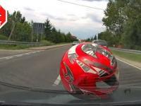 Najechanie i ucieczka motocyklem