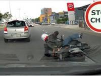 Potrącenie motocyklisty w Gdańsku