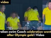 Reakcja Austriackiego trenera na zdobyte złoto pływaczki