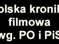 Kabaret Młodych Panów   Polska kronika filmowa wg  PO i PiS Tylko dźwięk