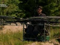 Zbudował wiatrakowiec do latania po lesie