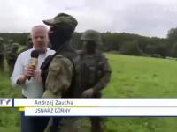 Redaktor TVN przepycha się ze strażą graniczną