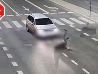 Potrącenie pieszego przez kierowcę bez uprawnień