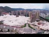 W Chinach w mieście Kunming wysadzono 15 niedokończonych budynków