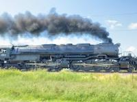 Parowóz Big Boy nr 4014 linii Union Pacific w czasie rozpędzania