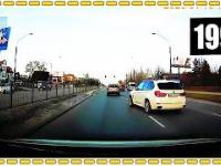 Kierowca BMW szaleje