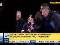 Żołnierz AK Traczyk-Stawska do Bąkiewicza zagłuszającego pro-unijną manifestację