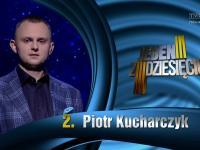 Pan Piotr o swoich zainteresowaniach w teleturnieju 1z10