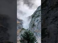 Lawina kamienna w rejonie Morskiego Oka