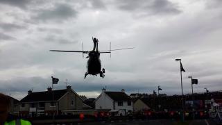 Transport helikopterem do szpitala