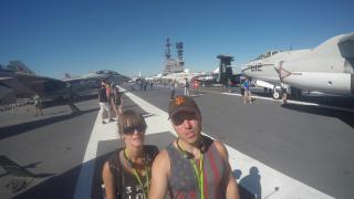 Zwiedzanie amerykańskiego lotniskowca USS Midway CV-41 US Navy